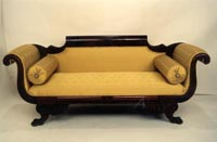 Empire Mahogany Couch with Claw Feet