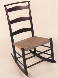 No. 3 Shaker Rocker W/ Shawl Bar