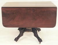 American Empire Mahogany Drop  Leaf Table