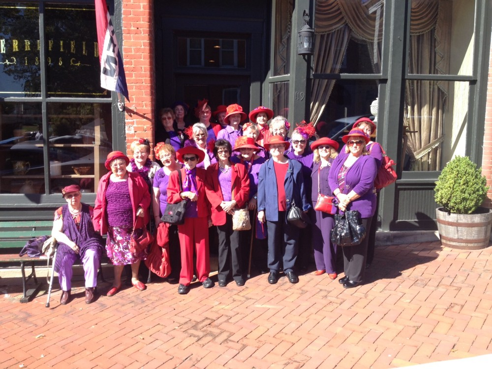 Red Hat Tea Society At Miss Merrifield's Tea Room